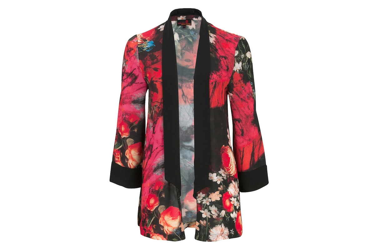 Red Flower Cardigan